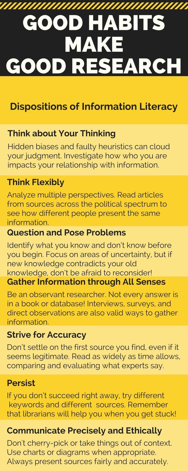 Good Habits Make Good Research