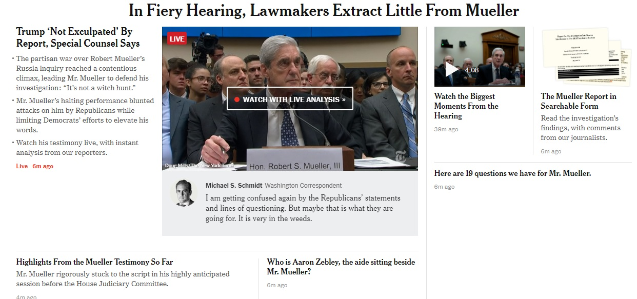 Mueller story in the New York Times